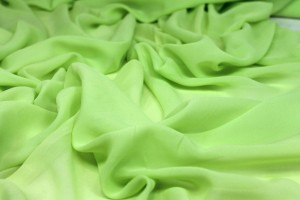 Neon Green Silk Georgette - 135-140cm wide