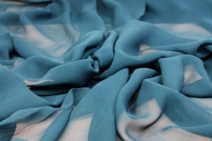 Deep Teal Silk Georgette - 135-140cm wide