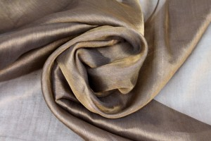 Silk Metallic Chiffon - Black/Gold