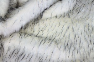 Faux Fur - Long Pile Ivory with Speckled Black Tips