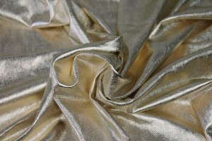 Foiled Marl Jersey in Pale Gold