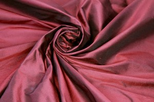 Silk Dupion - Two-Tone Red and Black