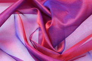 Silk Organza - Red Shot Blue