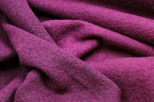 Boiled Wool Jersey Knit - Berry Pink