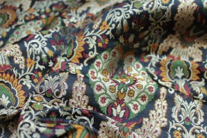 Heavy Banaras Brocade - Black / Multi / Gold
