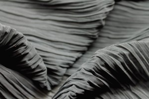 Pleated Polyester Chiffon - Grey
