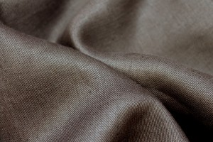 Brown Twill Weave Linen