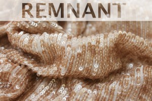 REMNANT - Overlapping Micro Sequin On Silk Chiffon - Mink - 1.3 to 1.4m piece