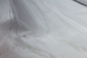 Soft Nylon Tulle - White - T1