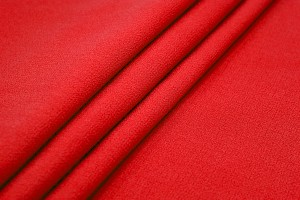 Double Wool Crepe - Red