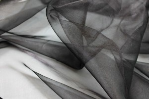 Silk Organza - Metallic Black