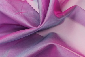 Silk Organza - Pink Shot Blue