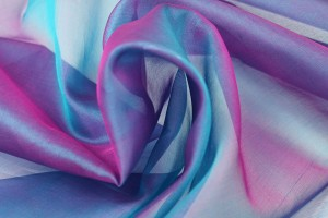 SOLD - Silk Organza - Turquoise Shot Amethyst
