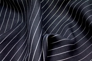 Black and White Pinstripe Linen