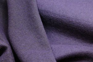 Boiled Wool Jersey Knit - Purple