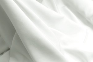 Double Silk Crepe - White Wide Width