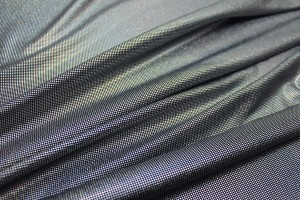 Foil Printed Jersey - Black Silver Holographic