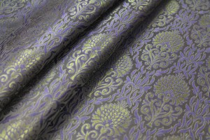 Banaras Brocade - Dark Blue & Green
