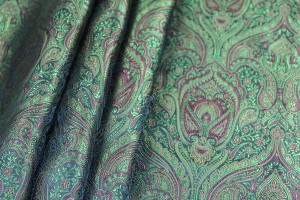 Banaras Brocade - Red and Green