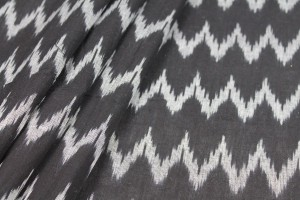 Light Weight Cotton Ikat - Black and White