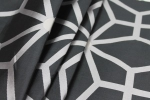 Geometric Brocade - Black Grey