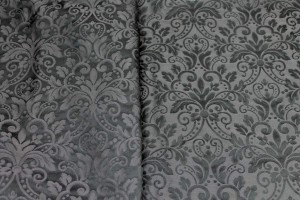 Classic Brocade - Anthracite and Black