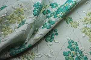 Iridescent Floral Brocade - Greens
