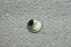 Round Gold Metal Shank Button - Small