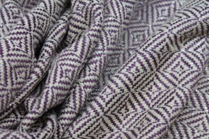 Glittery Check Silk Lurex Matka - Plum/Natural