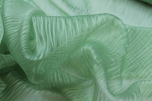 Distressed Silk Cotton - Pale Green