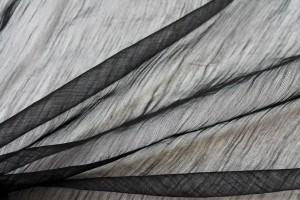 Distressed Silk Cotton - Black