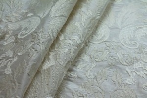 Heavy Jacquard Style Embroidery - Ivory