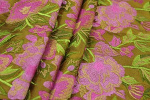 Ethnic Style Floral Embroidery - Amber/Pink