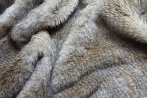 Faux Fur - Honey Blonde Stripe
