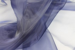 "Polyester ""Glass"" Organza - Navy"