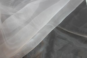 "Polyester ""Glass"" Organza - White"
