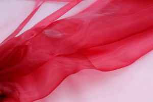 "Polyester ""Glass"" Organza - Dark Red"