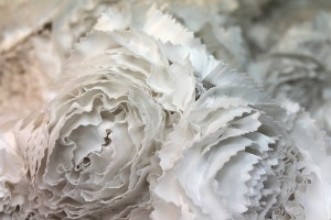 Satin Rose Applique - Off White