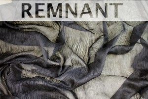 REMNANT - Distressed Silk Cotton - Black - 2.3m piece