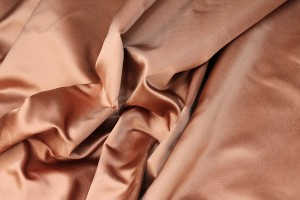 Two Tone Silk Duchesse Satin - Rose Gold