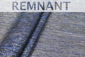 REMNANT - Pleated Lurex Knit - Royal Blue Silver - 2.4m piece