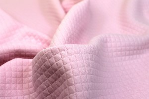 """""""Quilted"""" Look Double Jersey - Pink"""