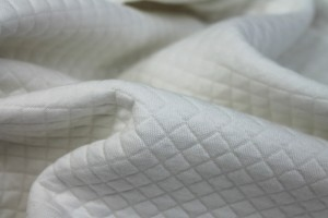 """""""Quilted"""" Look Double Jersey - Ivory"""