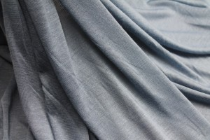 Lightweight Sheer Cotton Jersey - Dusty Blue