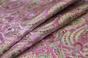 Heavy Banaras Brocade - Dusty Pink, Gold and Green