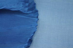 Pleated Blue Organza
