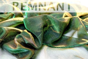 REMNANT - Green Gold Colour Changing Sheer Jersey - 1.9m piece