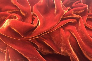 Silk Velvet - Burnt Orange