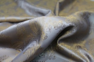 Paisley Patterned Anti-Static Lining - Gold