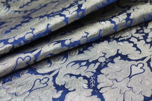 Heavy Banaras Brocade - Blue and Gold